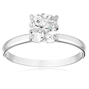 1.10 - 0.90 cttw IGI Certified Diamond Engagement Ring in 14K White Gold (L-M Color, I1-I2 Clarity)