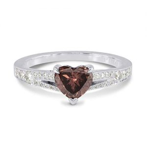 1.1Cts Pink Diamond Engagement Side Stone Ring Set in Platinum GIA Cert Size 6