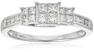 14k White Gold Princess-Cut Diamond Engagement Ring (1cttw, I-J Color, I1-I2 Clarity)