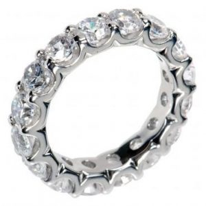 3.00 Ct Round Cut Diamond Eternity Wedding Band.