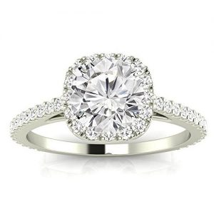 4.05 CTW Gorgeous Classic Cushion Halo Style Diamond Engagement Ring w 3.7 Ct GIA Certified Round Cut D Color VS2 Clarity Center