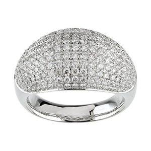 5.00 ct Ladies Round Cut Diamond Anniversary Ring In Pave Setting in Platinum