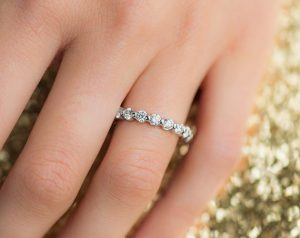 Platinum Ladies 1.50CTW.* Shared Prong Diamond Eternity Ring