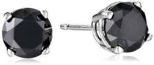 Black Diamond Stud Earrings 14k Gold