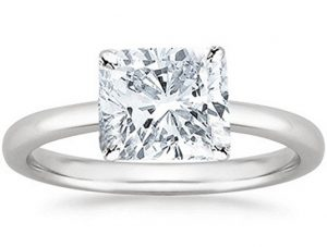 Cushion Cut Solitaire Diamond Engagement