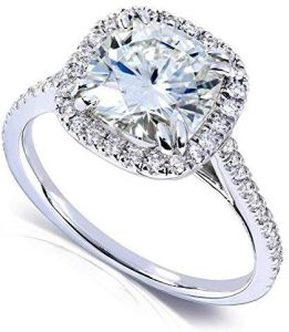 Kobelli Forever One (D-F) Moissanite Engagement Ring 2 14 ctw 14k White Gold