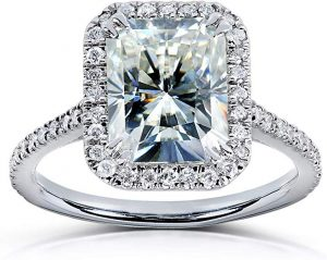 Kobelli Radiant-cut Moissanite Engagement Ring 3 CTW 14k White Gold
