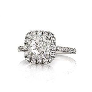 Mark Broumand 4.11ct Cushion Cut Diamond Engagement Ring