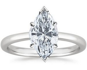 Marquise Cut Solitaire Diamond Engagement Ring