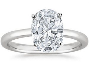 Oval Cut Solitaire Diamond Engagement Ring