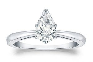 Pear-cut Diamond Solitaire Ring