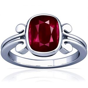 Platinum Cushion Cut Ruby Womens Astrological Ring (GIA Certificate)
