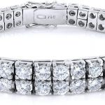 Two Row Diamond Tennis Style Bracelet